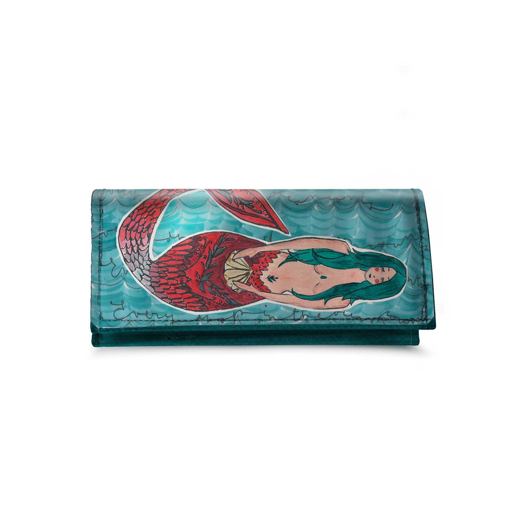 Portafoglio Patellato grande Sirena