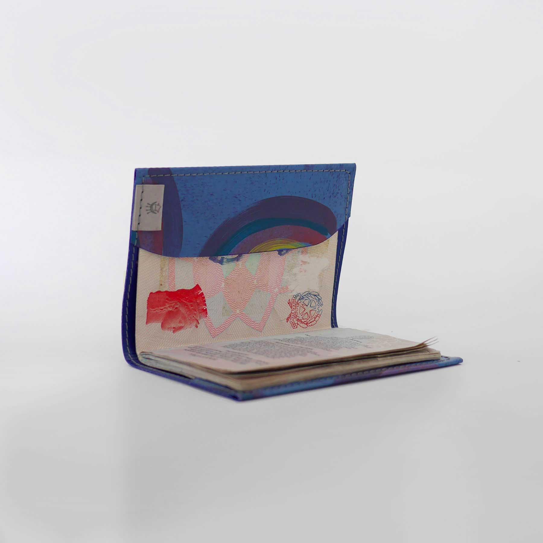 Porta passaporto llumi arcobaleno